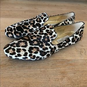 Jimmy Choo Leopard Print Loafers
